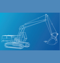 Construction machine vehicle excavator eps10 vector