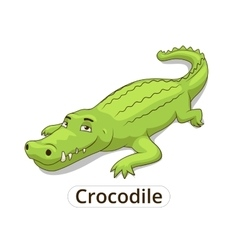 crocodile african savannah animal cartoon vector image