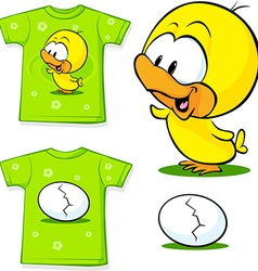 Cute shirt with egg vector