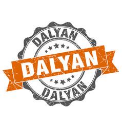 Dalyan round ribbon seal vector