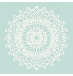 Delicate crochet lace ornament vector image