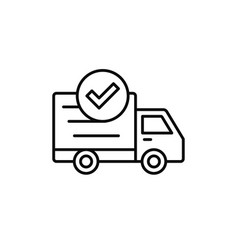 Delivery truck check icon done checking success vector