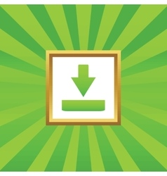 Download picture icon vector