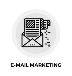 E-mail Marketing Line Icon vector