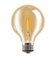 Edison bulb transparent vintage lamp realistic vector