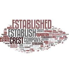 Establish word cloud concept vector