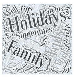 Family holidays Word Cloud Concept vector