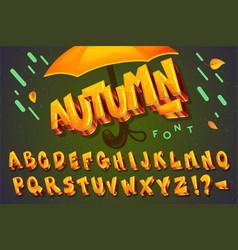 font autumn vector image