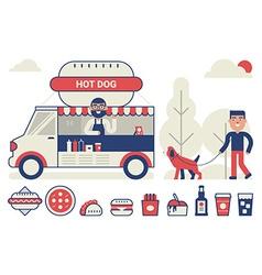Food truck concept vector image