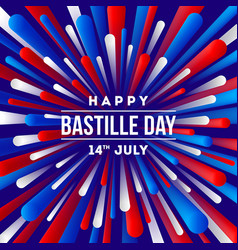 french national holiday - bastille day greeting vector image