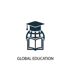 global education icon simple element vector image