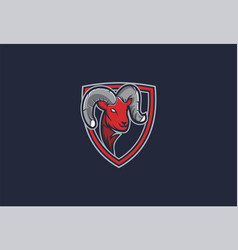 Goat red colour - esport logo vector