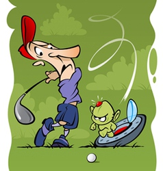 Golf accident vector