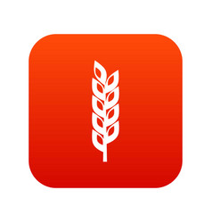 Grain spike icon digital red vector