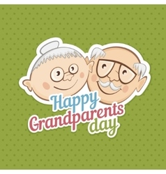 Greetings on grandparents day vector image