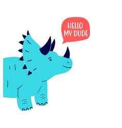 Hand drawing dinosaur vector