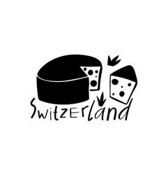 Hand drawn symbols of switzerland travel swiss vector