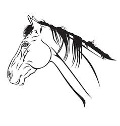 Horse head profile2 vector