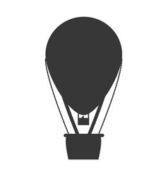 hot air balloon silhouette vector image