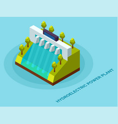 hydroelectric power plant energy electric vector image