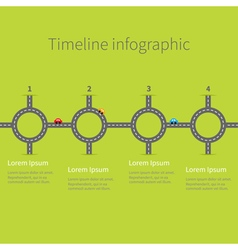 Infographic Timeline four step round circle vector