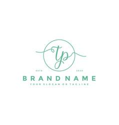 Letter tp feminine logo design vector