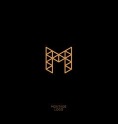m construction logo vector image
