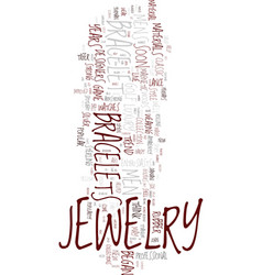 Mens jewelry in classic and new materials text vector