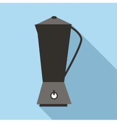 Metal electric kettle icon flat style vector