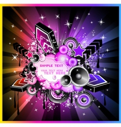 music event background vector image