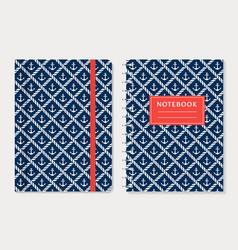 Notebook cover design set vector