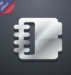 Notepad calendar icon symbol 3D style Trendy vector