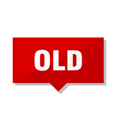 Old red tag vector