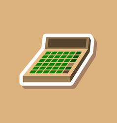 Paper sticker on stylish background economy vector