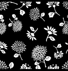 pattern of the decorative garden flowers vector image