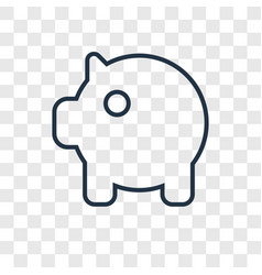 pig bank concept linear icon isolated on vector image