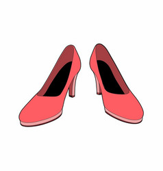 Pink shoes vector