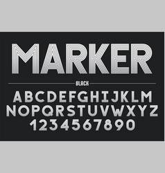 retro futuristic bold decorative font design vector image