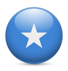 Round glossy icon of somalia vector