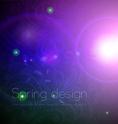 Seamless Floral Wallpaper with Sunshine vector