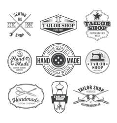 set tailor emblem signage vector image