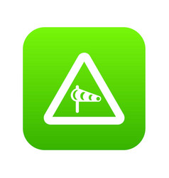 sign warning about cross wind from the left icon vector image