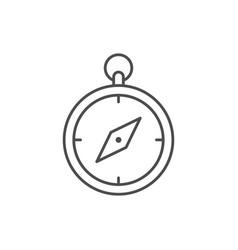 tourist compass line outline icon vector image