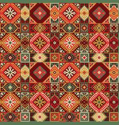 tribal carpet ethnic seamless pattern vector image