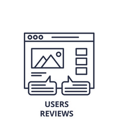 User reviews line icon concept user reviews vector