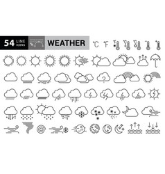 weather icons with editable strokes vector image