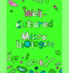 Well-cultured microbiologist image vector