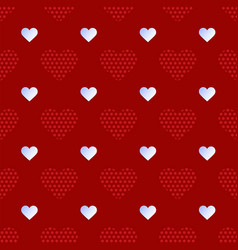 white paper heart seamless pattern with creative vector image