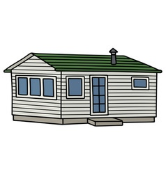 White small mobilhouse vector