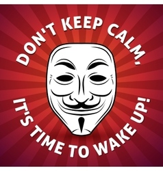 Anonymous mask poster hacker vector
